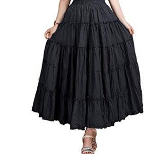 White House Black Market Black Tiered Skirt Size S